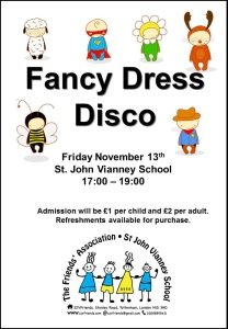 Fancy Dress Disco Poster 2015