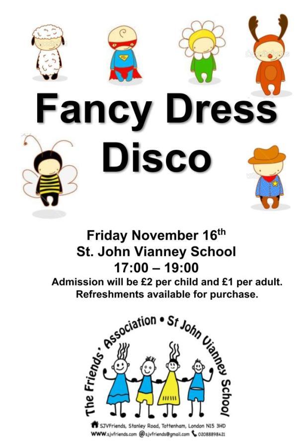Fancy Dress Disco Poster 2018 1